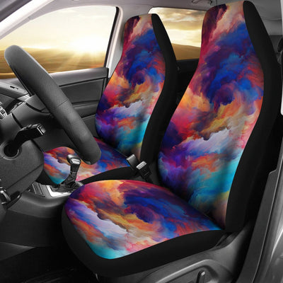Vortex Twist Swirl Water Color Design Universal Fit Car Seat Covers