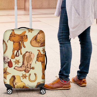 Western Cowboy Design Pattern Luggage Cover Protector