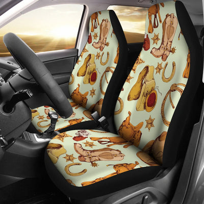 Western Cowboy Design Pattern Universal Fit Car Seat Covers
