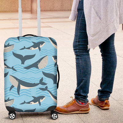 Whale Pattern Design Themed Print Luggage Cover Protector
