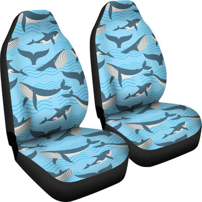 Whale Pattern Design Themed Print Universal Fit Car Seat Covers