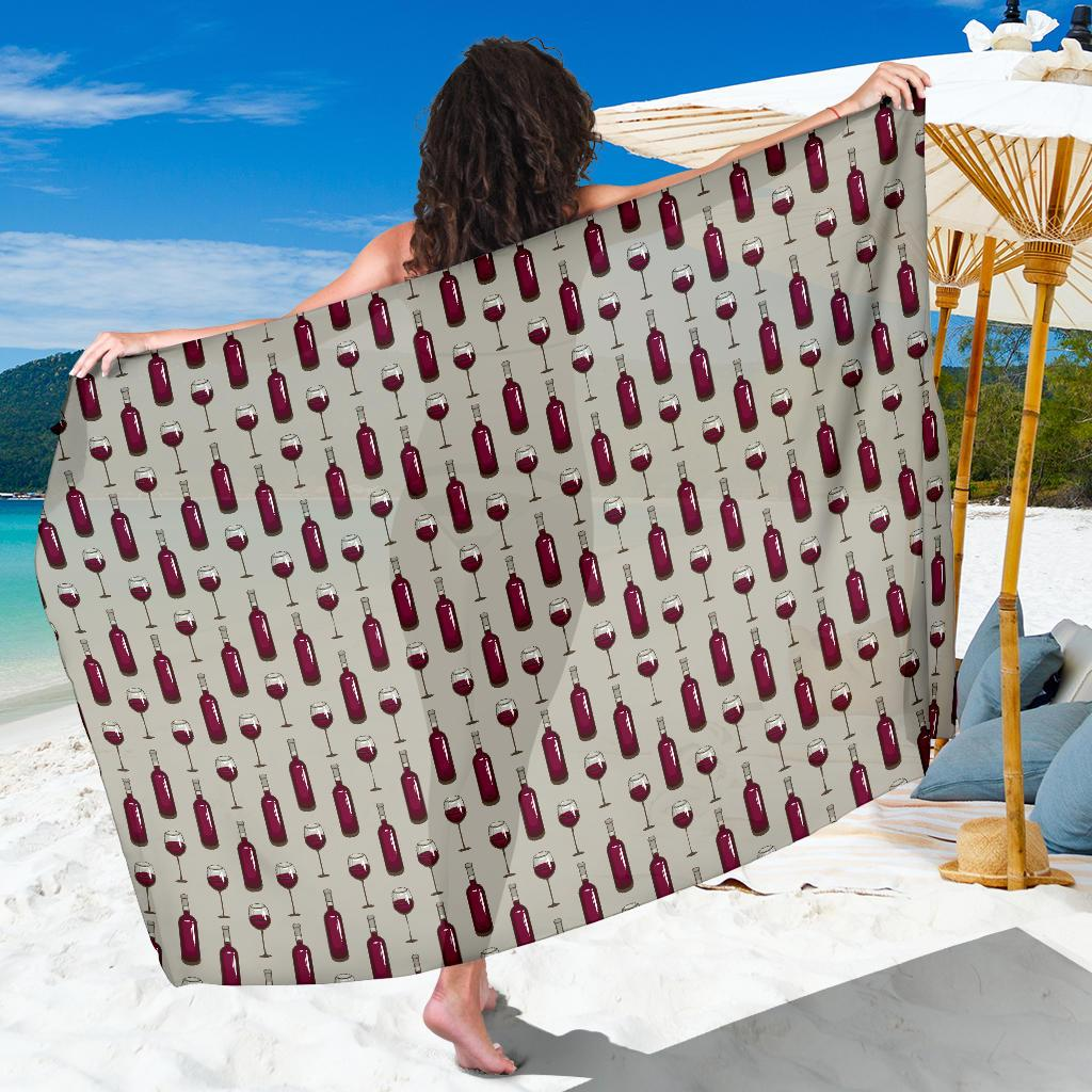 d37f9a75e4943 Size Chart & Product Details. undefined. Size Guide. Product Details. Wine  Bottle Pattern Print Sarong Pareo Wrap ...