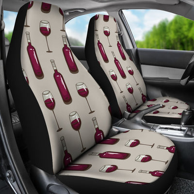Wine Bottle Pattern Print Universal Fit Car Seat Covers