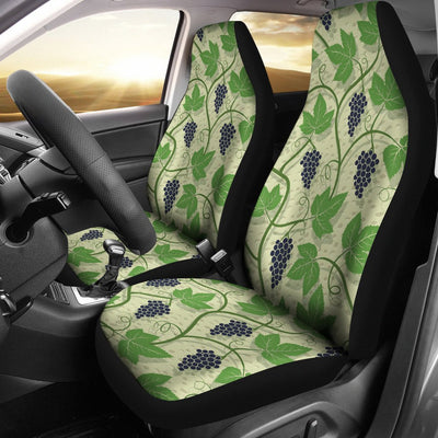 Wine Grape Thmed Print Universal Fit Car Seat Covers