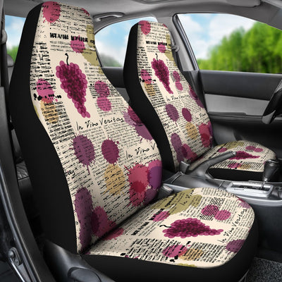 Wine Style Design Print Universal Fit Car Seat Covers