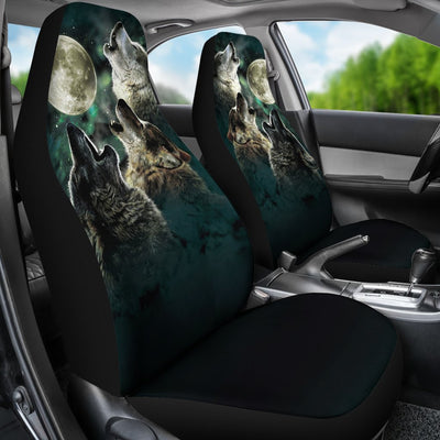 Wolf Design No3 Print Universal Fit Car Seat Covers