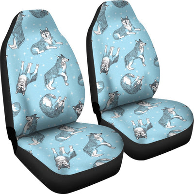 Wolf Design Print Pattern Universal Fit Car Seat Covers