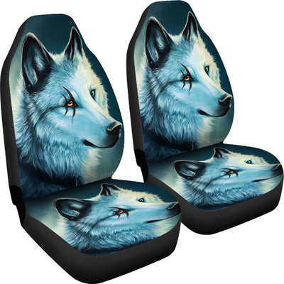 Wolf Spirit Design No5 Print Universal Fit Car Seat Covers