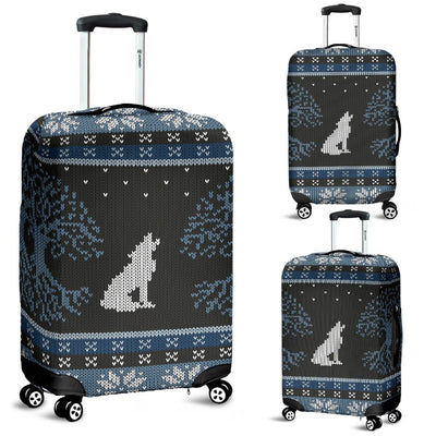 Wolf Tree Of Life Knit Design Print Luggage Cover Protector