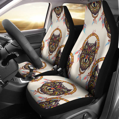 Wolf Tribal Dream Catcher Design Print Universal Fit Car Seat Covers