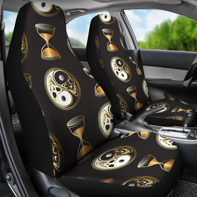 Yin Yang Skull Themed Design Print Universal Fit Car Seat Covers