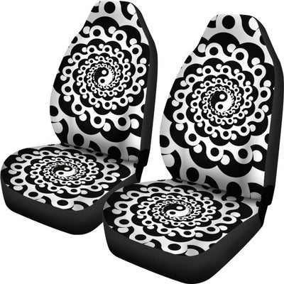 Yin Yang Spiral Design Print Universal Fit Car Seat Covers
