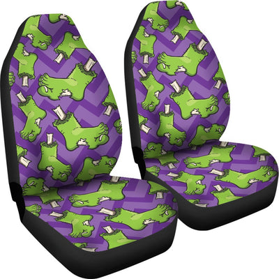 Zombie Foot Design Pattern Print Universal Fit Car Seat Covers