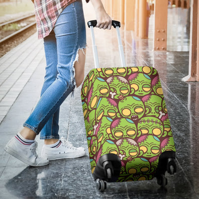 Zombie Head Design Pattern Print Luggage Cover Protector