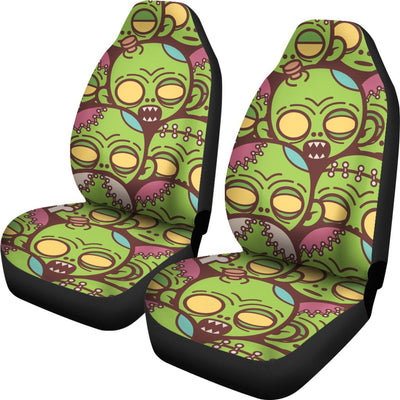 Zombie Head Design Pattern Print Universal Fit Car Seat Covers