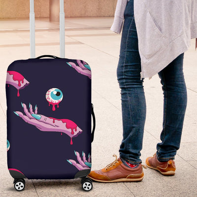 Zombie Pink Hand Design Pattern Print Luggage Cover Protector