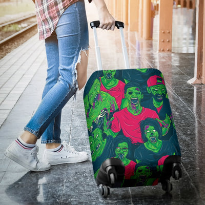 Zombie Themed Design Pattern Print Luggage Cover Protector