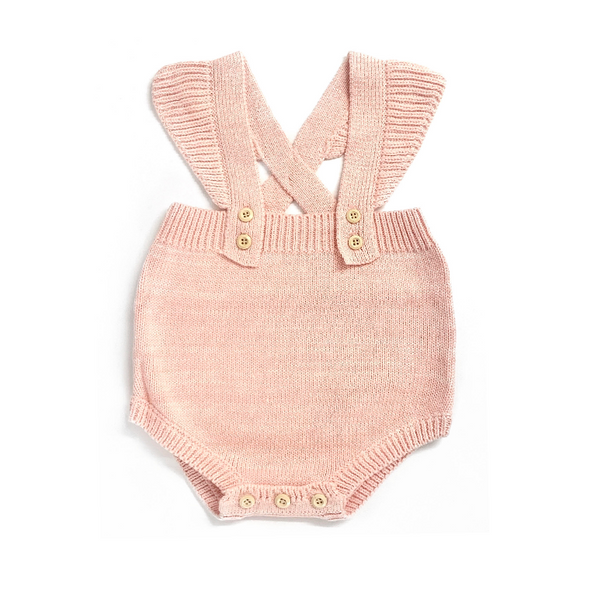 Nancy Pink Knitted Romper