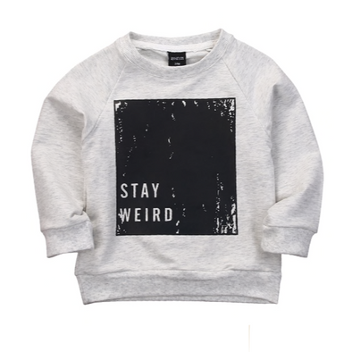 Cargo Light Grey 'Stay Weird' Sweater