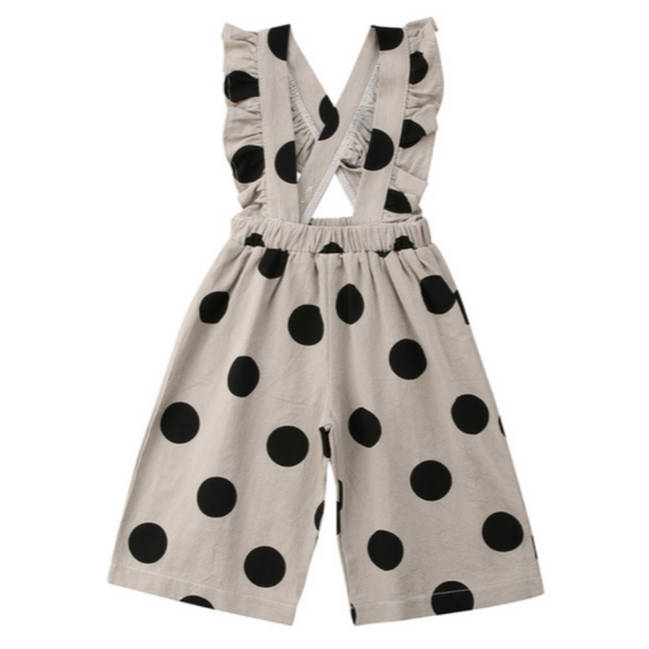 Gilly Grey Spot Dungarees