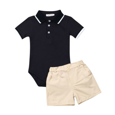 Harry Cream Shorts and T-Shirt Set