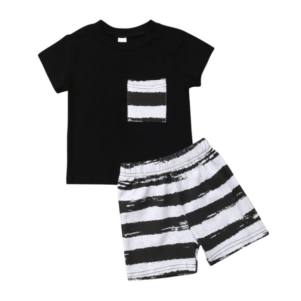 Hunter Striped Shorts Set