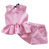 Isla Pink Checked Shorts Set