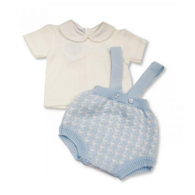Jordan Baby Blue Bow Knitted Set
