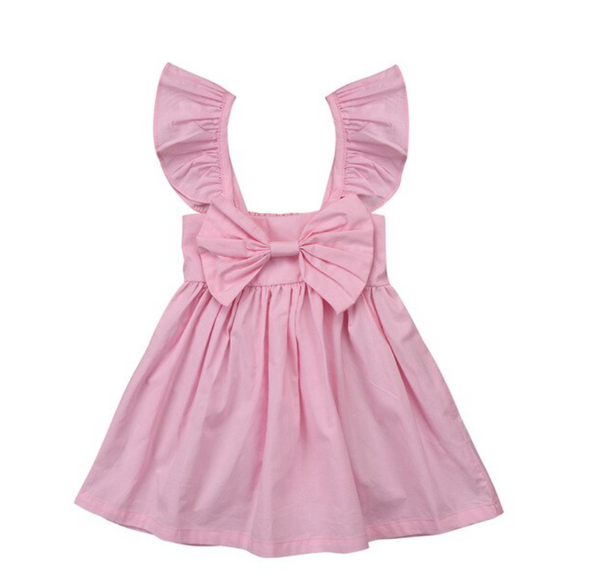 Luna Pink Bow Dress