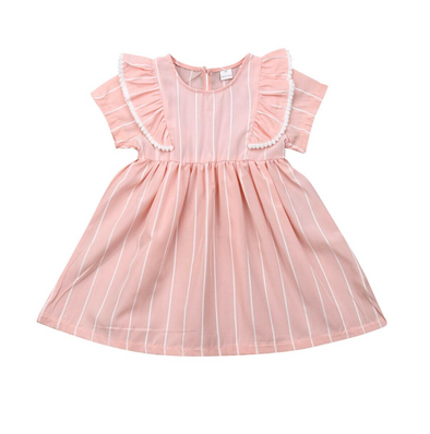 Lydia Pink Striped Dress