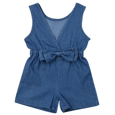 Ruby Denim Bow Playsuit