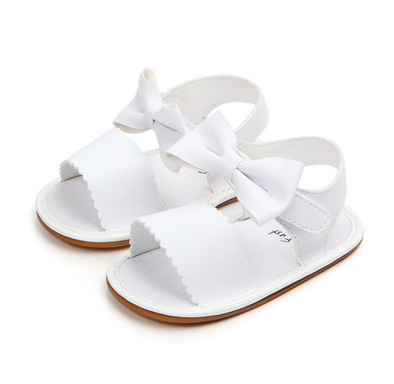 Savanna White bow Front Sandals
