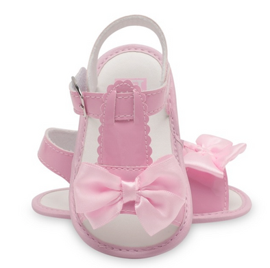 Pink Soft Sole Bow Front Sandals