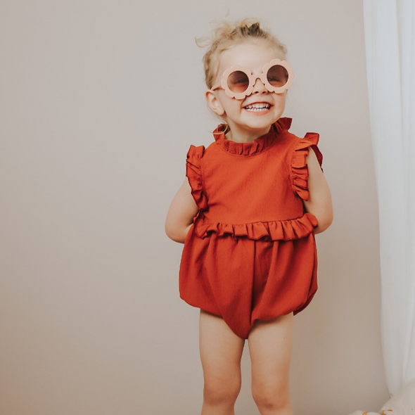 Lexie Copper Ruffle Romper Playsuit