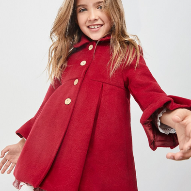 Kyla Red Long Bow Back Coat