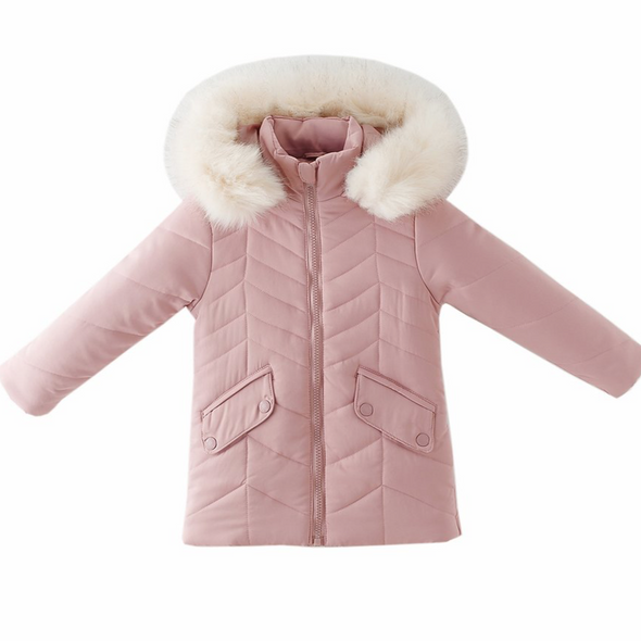 Kayleigh Pink Striped Padded Coat