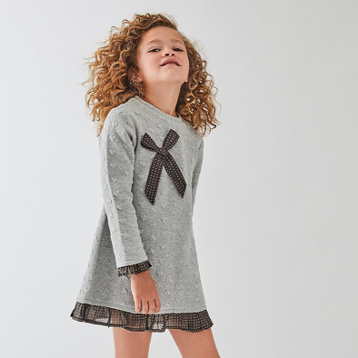 Dakota Grey Bow Dress