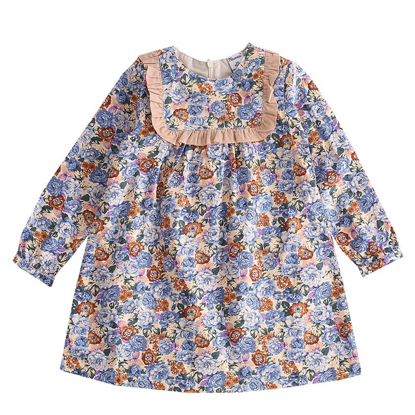 Ember Brown Floral Dress