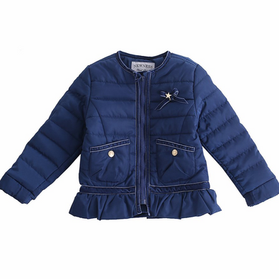 Mariah Navy Padded Coat