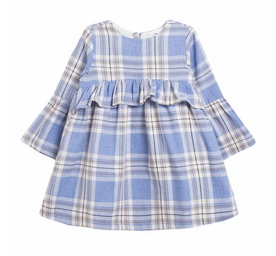Saige Blue Checked Dress