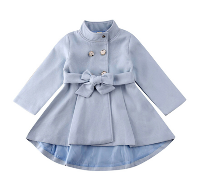 Liv Blue Bow Coat