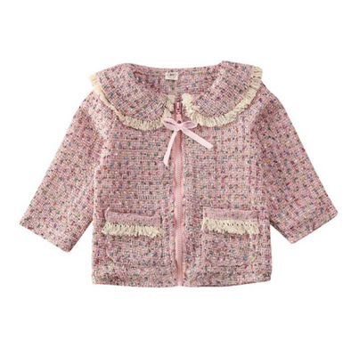 Kayleigh Pink Tweed Coat