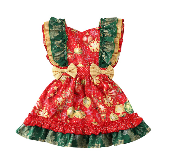 Clementine Christmas Festive Bow Dress
