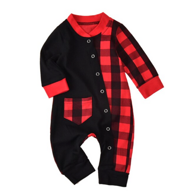Rainee Checked Romper