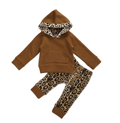 Matilda Brown Leopard Loungewear Set