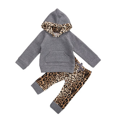 Matilda Grey Leopard Loungewear Set