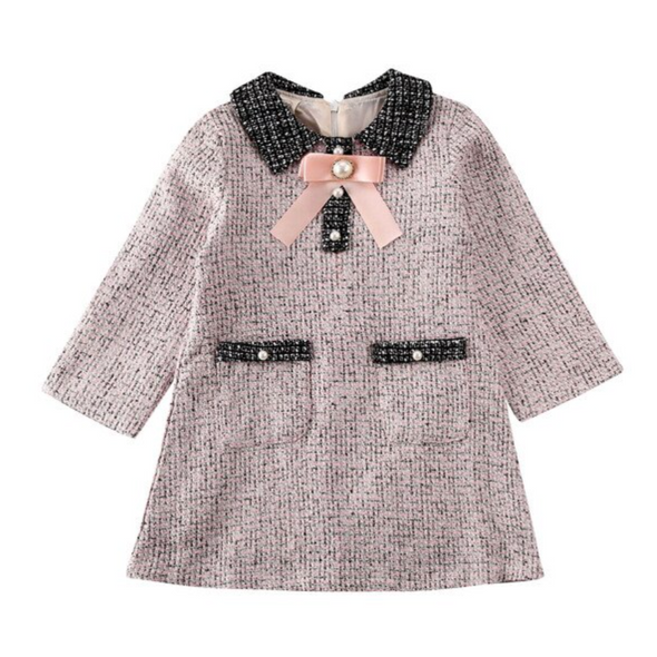 Shelly Light Pink Tweed Dress