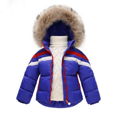 Blue Bo Padded Faux Fur Hooded Parker