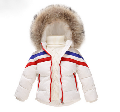 White Bo Padded Faux Fur Hooded Parker