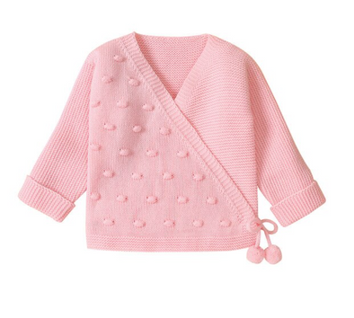 April Pink Bobble Cardigan